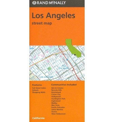 Folded Map Los Angeles Streets CA (Paperback) - Common