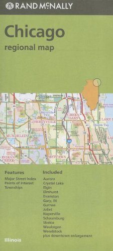 Rand McNally Chicago & Vicinity IL Regional Map (Green cover) - Wide World Maps & MORE! - Book - Wide World Maps & MORE! - Wide World Maps & MORE!