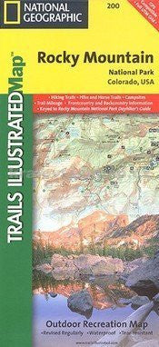 National Geographic, Trails Illustrated, Rocky Mountain National Park, Colorado, USA (Trails Illustrated - Topo Maps USA) - Wide World Maps & MORE! - Book - National Geographic - Wide World Maps & MORE!