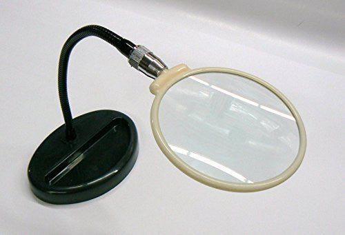 "BooTool(TM) MAGNIFIER STANDING 2X FLEXIBLE NECK ON BASE 4-1/2"" LENS"