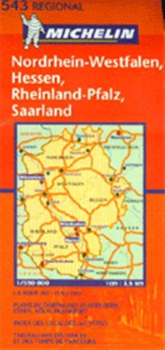 Michelin Map No. 543 Midwestern Germany: Scale 1:375,000