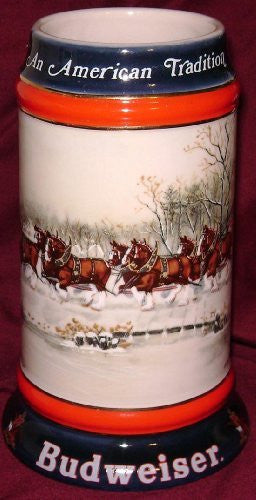 us topo - 1990 Budweiser Holiday Beer Stein - An American Tradition - Wide World Maps & MORE! - Kitchen - Unknown - Wide World Maps & MORE!