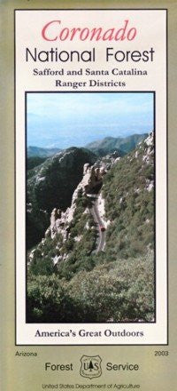Coronado National Forest Map (safford & santa catalina ranger districts) - Waterproof