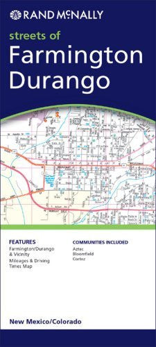 Rand Mcnally Farmington/Durango, New Mexico/Colorado: Streets of (Rand McNally Streets Of...)
