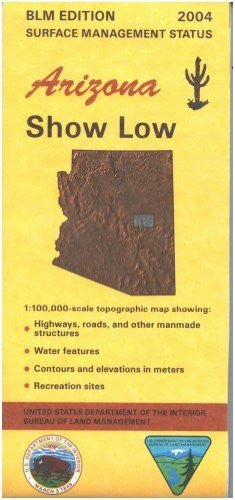 us topo - Show Low, Arizona Surface Management Status - Wide World Maps & MORE! - Book - Wide World Maps & MORE! - Wide World Maps & MORE!