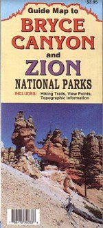 Guide Map to Bryce Canyon and Zion