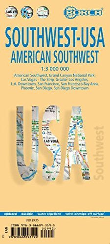 Laminated American Southwest-USA 2 Map  (English Edition)