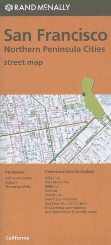 San Fran & No Penin Streets, CA Rand McNally (Red Cover)