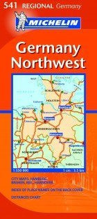 Germany Northwest Road and Tourist Map (Germany Regional)