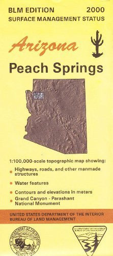 us topo - Arizona: Peach Springs : 1:100,000-scale topographic map : 30 X 60 minute series (topographic) (Surface management status) - Wide World Maps & MORE! - Book - Wide World Maps & MORE! - Wide World Maps & MORE!
