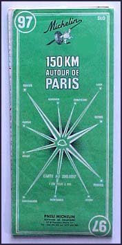 1964 Michelin 150KM Autour De Paris 97 - Wide World Maps & MORE! - Book - Wide World Maps & MORE! - Wide World Maps & MORE!
