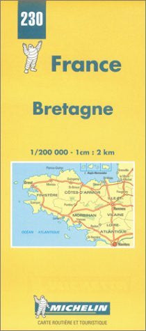 Michelin Bretagne (Brittany), France Map No. 230