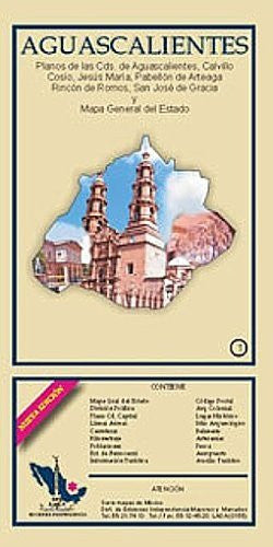 us topo - Aguascalientes State & Aguascalientes City Map EIGAS - Wide World Maps & MORE! - Book - Wide World Maps & MORE! - Wide World Maps & MORE!