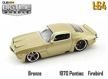 Jada Dub City Big Time Muscle Bronze 1970 Pontiac Firebird 1:64 Scale Die Cast Car