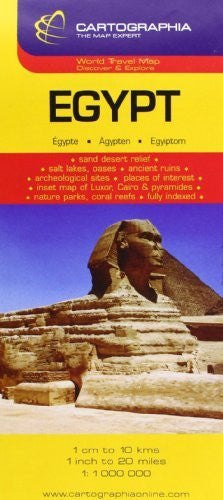 us topo - Egypt (Michelin National Maps) (English, French and German Edition) - Wide World Maps & MORE! - Book - Cartographia - Wide World Maps & MORE!