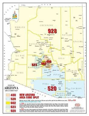 us topo - State of Arizona Area Codes Map - 50 Count - Wide World Maps & MORE! - Map - Wide World Maps & MORE! - Wide World Maps & MORE!