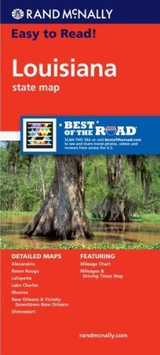 Rand McNally Easy To Read: Louisiana State Map