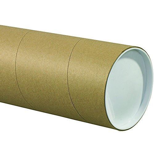"us topo - BOX USA BP5036KHD Jumbo Mailing Tubes, 5"" x 36"", Kraft (Pack of 15) - Wide World Maps & MORE! - BISS - BOX USA - Wide World Maps & MORE!"