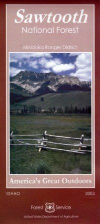 Sawtooth National Forest: Minidoka Ranger District (America's Great Outdoors, 23.85.414.01/92C) - Wide World Maps & MORE!
