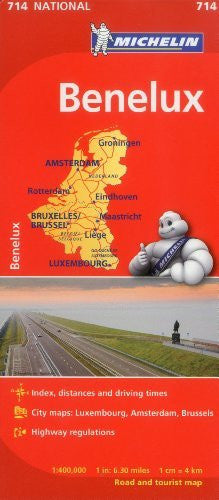 Benelux Map 714: Belgium, The Netherlands, Luxembourg Michelin (Maps/Country (Michelin))