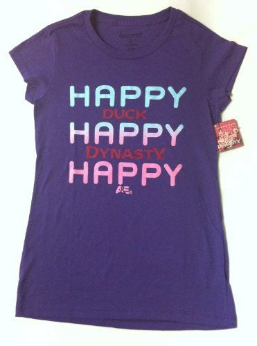 us topo - Duck Dynasty Women's Purple T-Shirt - Size XL - Happy Happy Happy - Wide World Maps & MORE! - Apparel - Duck - Wide World Maps & MORE!