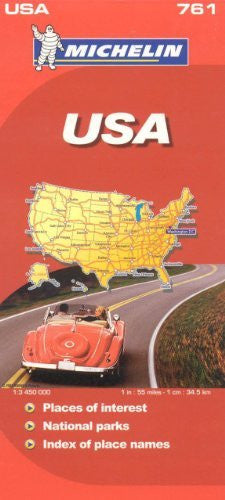 us topo - Michelin Map USA Road 761 (Maps/Country (Michelin)) - Wide World Maps & MORE! - Book - Wide World Maps & MORE! - Wide World Maps & MORE!