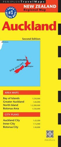 Auckland Travel Map Second Edition (Australia Regional Maps) - Wide World Maps & MORE! - Book - Brand: Periplus Editions (HK) ltd. - Wide World Maps & MORE!