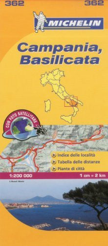 Michelin Map Italy: Campania, Basilicata 362 (Maps/Local (Michelin)) (Italian Edition)