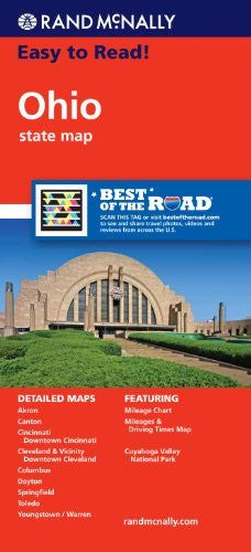 Rand McNally Easy To Read: Ohio State Map