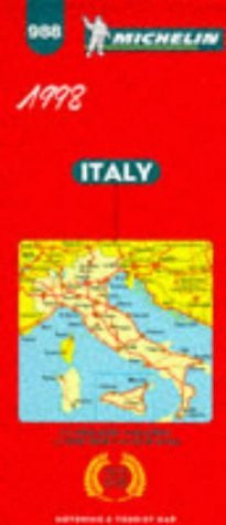Michelin Main Road Map: Italy, Italia/No 988 (Michelin Maps) (English, French, German and Italian Edition)