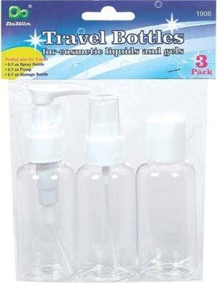 DDI - Travel Bottles 3 Pk (1 pack of 12 items)