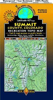 Summit County Mountain Bike and Hiking Topo Map - Wide World Maps & MORE! - Map - Latitude 40° - Wide World Maps & MORE!
