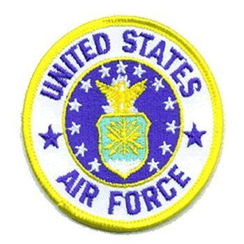 U.S. Air Force: An Embroidered Iron-On Patch (Two-Pack)