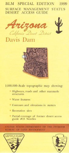 Arizona, [California] Desert District: Davis Dam : 1:100,000-scale topographic map : 30 X 60 minute series (topographic) (Desert access guide)