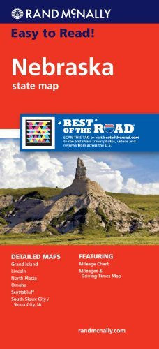 Rand McNally Easy To Read: Nebraska State Map