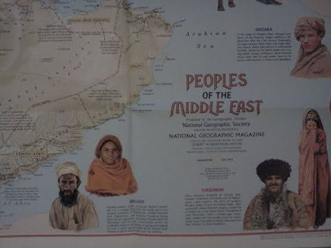 us topo - A Cultural Map of the Middle East - Wide World Maps & MORE! - Book - Wide World Maps & MORE! - Wide World Maps & MORE!