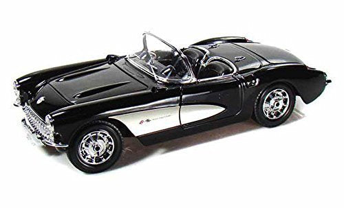 1957 Chevy Corvette Convertible, Black - Maisto 31139 - 1/18 Scale Diecast Model Toy Car - Wide World Maps & MORE! - Toy - Maisto - Wide World Maps & MORE!