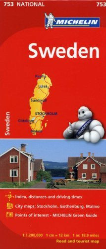 Michelin Sweden Road Map 753 (Maps/Country (Michelin))