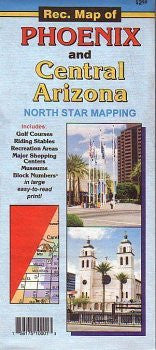 us topo - Rec. Map of Phoenix and Central Arizona - Wide World Maps & MORE! - Map - North Star - Wide World Maps & MORE!