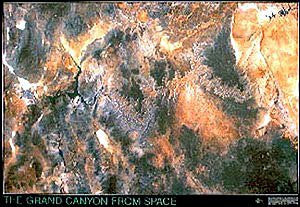 Grand Canyon From Space Satellite Image Map / Poster Gloss Laminated