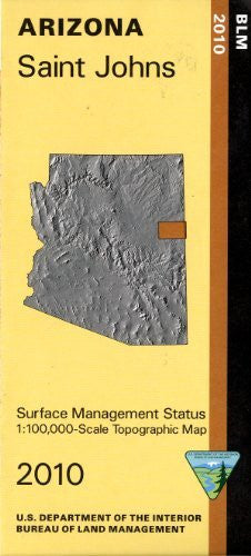 Saint Johns, Arizona (Surface Management Status 1:100,000-Scale Topographic Map)