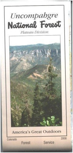 Uncompahgre National Forest Map (Plateau Division) - Waterproof
