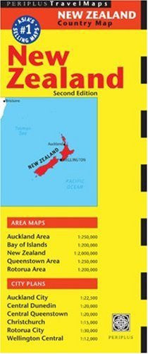 New Zealand Map (Australia Regional Maps) - Wide World Maps & MORE! - Book - Periplus - Wide World Maps & MORE!