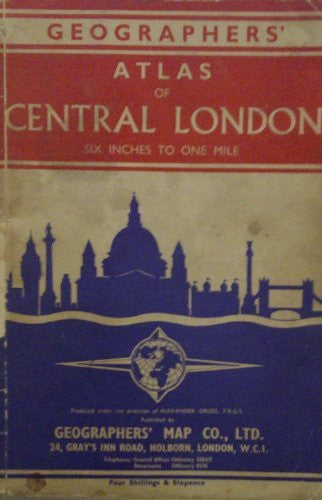 Geographers' atlas of Central London, six inches to one mile