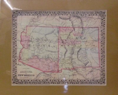 us topo - 1879 County Map of Arizona and New Mexico Matted & Mounted - Wide World Maps & MORE! - Book - Wide World Maps & MORE! - Wide World Maps & MORE!