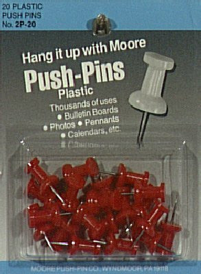 us topo - Moore Push Pins red plastic pack of 20 - Wide World Maps & MORE! - Office Product - Moore Push-Pin - Wide World Maps & MORE!