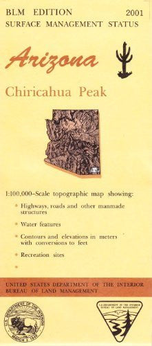 us topo - Arizona: Chiricahua Peak : 1:100,000-scale topographic map : 30 X 60 minute series (topographic) (Surface management status) - Wide World Maps & MORE! - Book - Wide World Maps & MORE! - Wide World Maps & MORE!