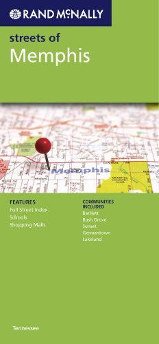 Rand McNally Streets of Memphis: Tennessee - Wide World Maps & MORE! - Book - Wide World Maps & MORE! - Wide World Maps & MORE!