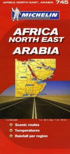 Michelin Map Africa Northeast & Arabia  745  (w/cover) (Maps/Country (Michelin))