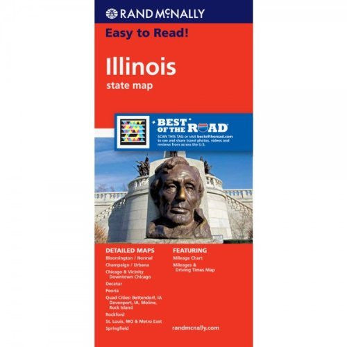 us topo - Easy to Read!:  Illinois State Map - Wide World Maps & MORE! - Book - Rand McNally and Company (COR) - Wide World Maps & MORE!